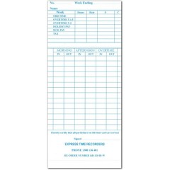 QR-120BW Fortnightly Time Cards (QTY:1000)