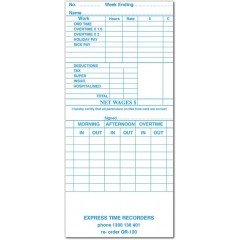 QR-120W Weekly Time Cards (QTY:1000)